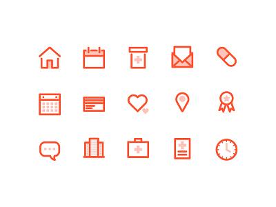 Orange Icons vector icon design opacity orange icons medical prescription