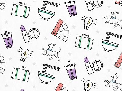 Instagram Icons iconography icon design icon set stars food dog pattern colour adobe illustrator illustration icon