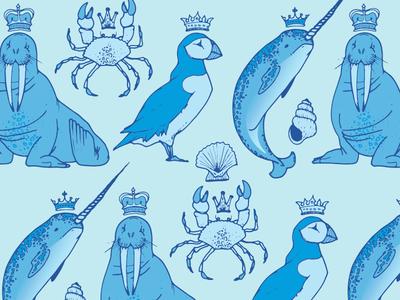 Royal Arctic Animals Repeat