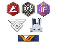 Destiny Faction Pin Sets