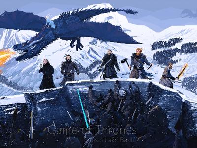 Frozen lake battle