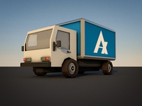 Low Poly Box Truck