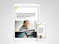 WIP: Portfolio Site Preview