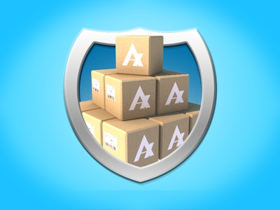 Iconography Shields Boxes badge cinema4d low poly 3d icon c4d