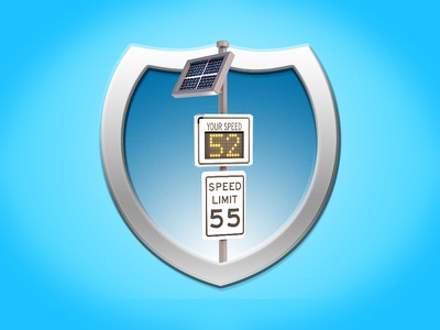 Iconography Shields Speed badge cinema4d low poly 3d icon c4d