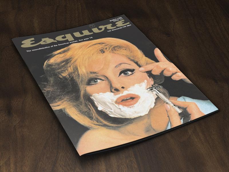 Magazine Cover Mockup - Wooden Floor PSD psd mockup magazine catalog freebie freebies