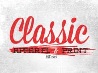 Classic Apparel & Print - Rebrand
