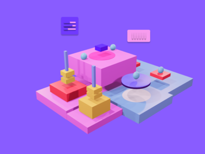 Blender Object 3D-software development web ux ui design illustration