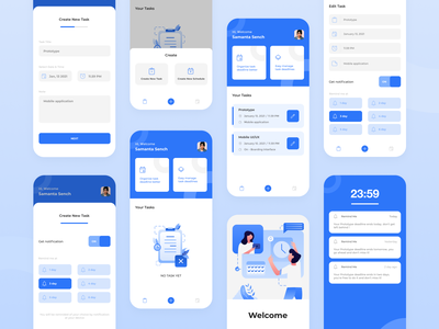 Remind Me - Reminder Mobile App app ui uidesign mobile ui illustration
