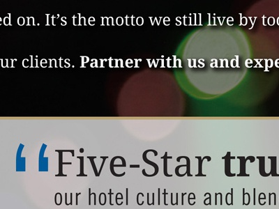 Five-Star AudioVisual brochure interior brochure print direct mail colindpritchard bokeh