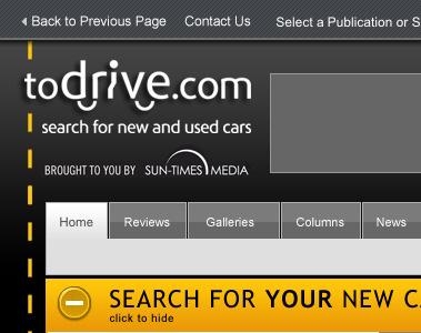 ToDrive site redesign redesign web design colindpritchard