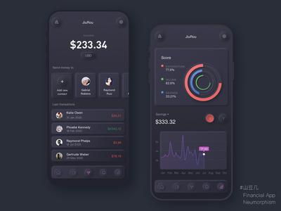Financial App - Neumorphism