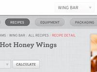 iPad Custom Navigation - Recipe App