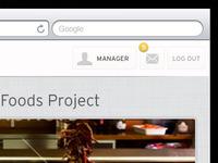 iPad Login - Recipe App