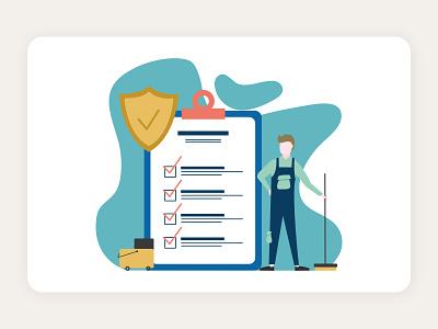 cleaning service - website illustration design web ui ui illustration vector website illustration flat design flat illustration illustration app illustration