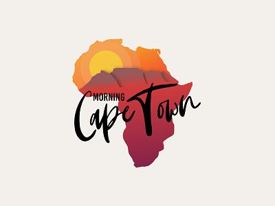 Morning cape town - Logo africa typography mark identity vector illustration logo icon design branding