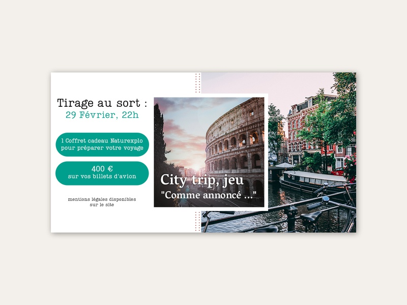 City trip - web banner travel agency travel ux creative website design website web banner web design ui design
