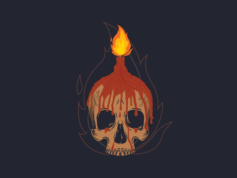 Skull #1 - illsutration creative skull art skull web vector ui illustration design app illustration