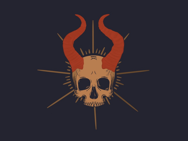 Skull #2 - illsutration icon illustrator skull art skull web creative app illustration illustration vector design
