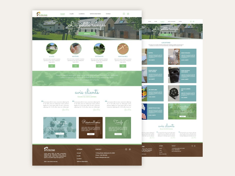 Web design #1 : La petite rangée color scroll illustration website typography web design ux ui web creative icon responsive design
