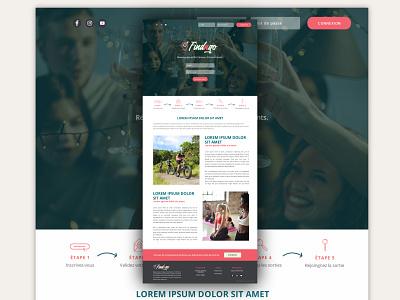 Web design #2 : FindNgo website design uiux webdesign website ux web ui icon creative design