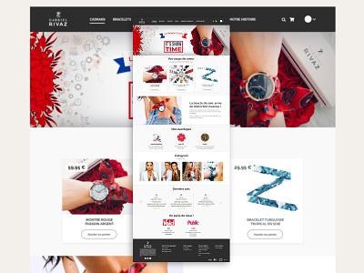 Web design #4 : Gabriel Rivaz website builder website concept flat design creative web design website design ux web ui