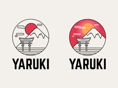 Logo - Yaruki vector typography logo design logo japan illustration identity design creative branding