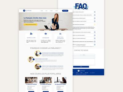 Web design #5 : La parlance website concept website builder website web design web ux ui design flat design creative