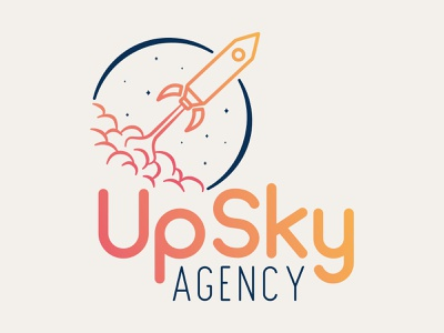 Logo - Upsky Agency minimal icon vector typography logo design logo agency illustration identity design creative branding