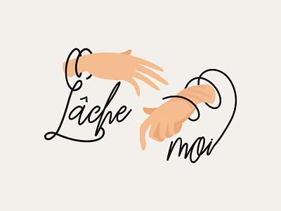 Logo - Lâche moi minimal flat design branding creative design identity illustration logo logo design typogaphy vector