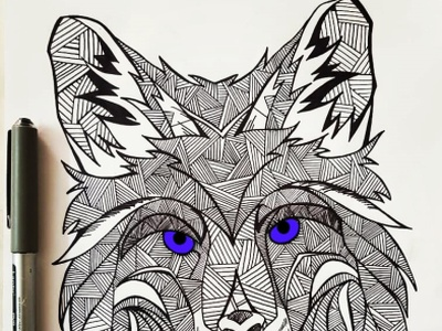 She Wolf illustrations illustraion pencil drawing illustrator illustration art pencil sketch pencil art illustration drawart daailyart