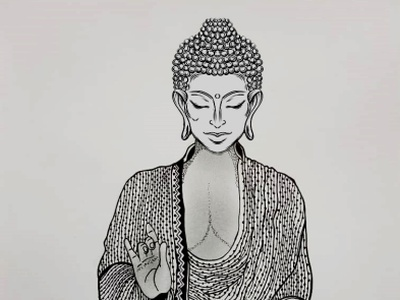 Buddha logo artist illustrations drawart pencil drawing pencil sketch illustration art illustration pencil art daailyart