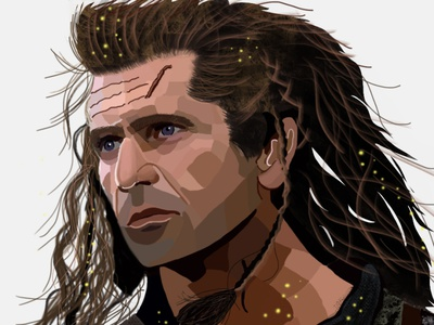 Braveheart artworks portrait digitalpaint digital art digital painting drawart design artwork illustrations illustration art illustration daailyart