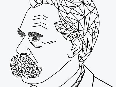Friedrich Nietzsche artworks portrait hyperrealism artist art illustrator artwork animation design drawart illustrations illustration art pencil art illustration daailyart