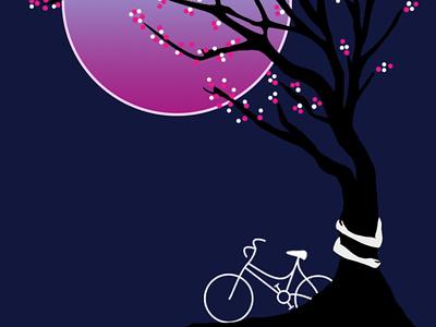 Moon night digital painting digitalart illustrationart drawart illustrator pencil drawing illustrations animation artwork pencil sketch pencil art illustration daailyart