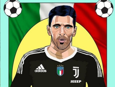 Gianluigi Buffon illustraion artwork illustrator artist daailyart design illustrations illustration art drawart illustration