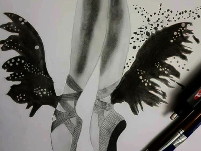 Butterfly Ballet dance animation pencil sketch pencil drawing pencil art illustrations illustration art illustration drawart design daailyart