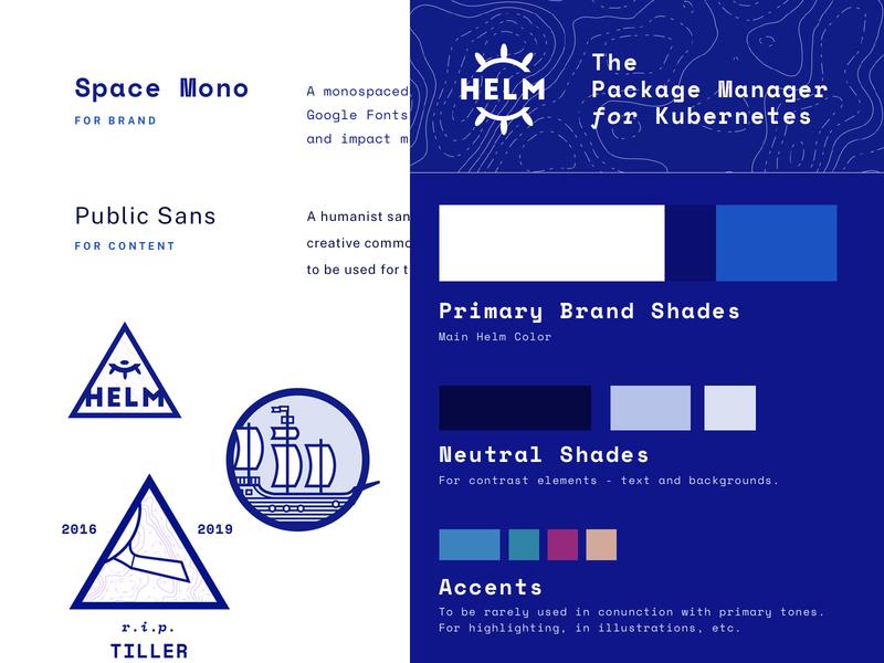 Helm Rebrand #1 vector illustration design logo ship palette style guide branding cncf kubernetes helm