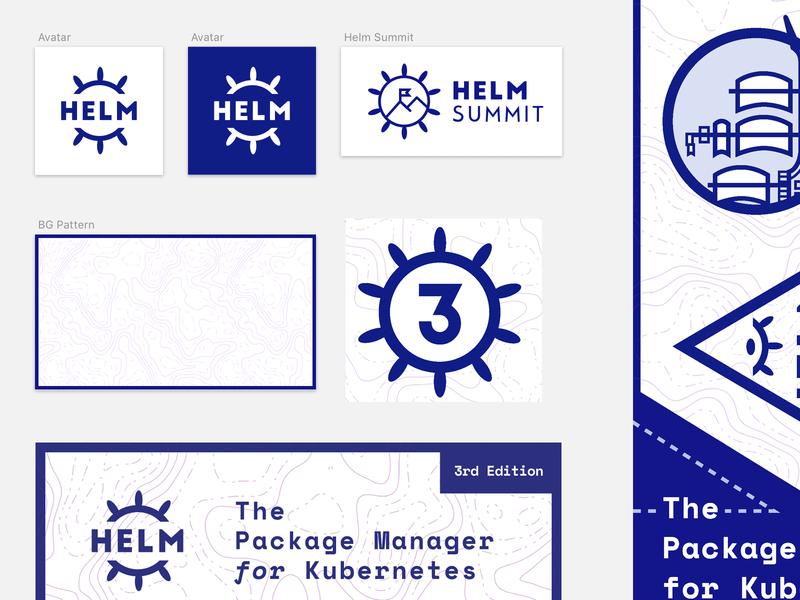 Helm Rebrand #2 cncf ship illustration helm kubernetes 3 design logo branding