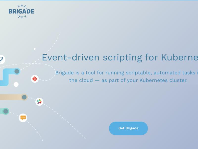 Brigade.sh Intro js javascript events project cluster devops source open azure kubernetes website