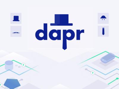 DAPR containers illustration branding logo