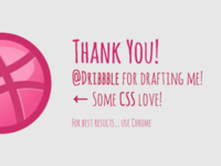 Dribbble logo in CSS