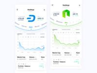Crypto Wallet UI - Holdings