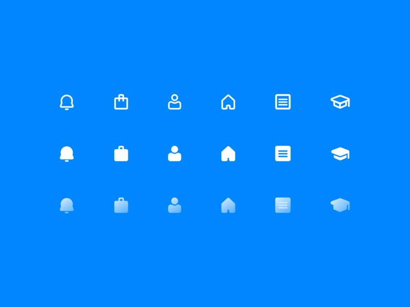ikas Dashboard Icons vector dashboard web illustrator home alert education branding flat design simple illustration icon design icon icons ikas clean minimal ux ui