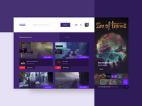 Twitch Dashboard Concept Design