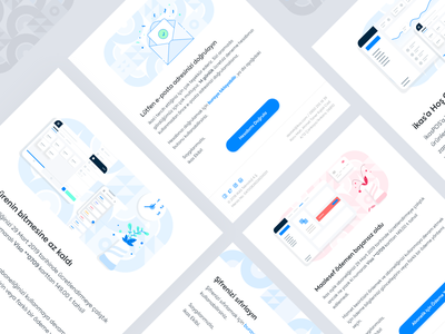 ikas Newsletter Design and Illustrations pos saas abstract white dashboard typography vector flat clean simple mail illustration design icon email email design newsletter ux minimal ui
