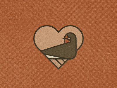 Swallow spring love heart swallow bird badge sign animal vintage icon birds mark logo illustration geometric nature