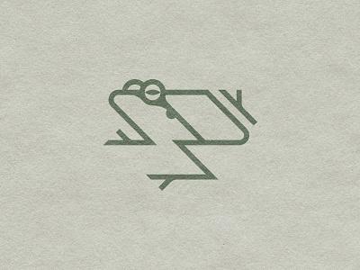 Little tree frog geometric animal natural history sign modern icon mark animals logo nature frog