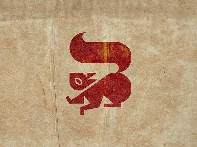 Squirrel design vintage animal sign icon mark logo geometric illustration nature