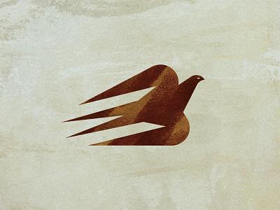 Ghostbird symbol animal sign icon geometric mark illustration logo nature swallow bird